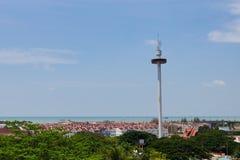 Menara Taming Sari Tower View from St Paul Hil Royalty Free Stock Photo