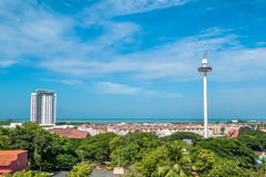 Menara Taming Sari Tower view from St Paul Hill.Malacca City was listed as a UNESCO World Heritage Site on 7 July 2008. Malacca - 16 July 2017 - Menara Taming Royalty Free Stock Photos