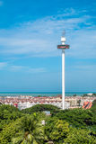 Menara Taming Sari Tower view from St Paul Hill.Malacca City was listed as a UNESCO World Heritage Site on 7 July 2008. Malacca - 16 July 2017 - Menara Taming Stock Photography