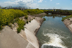 Menashe rivers project Royalty Free Stock Photography