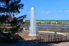 Menazherny fontanna w Peterhof, St Petersburg, Rosja Obrazy Royalty Free