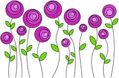 Menchia kwiaty układający w rozkazie, wektor ilustracja wektor