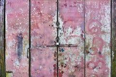 Menchia Plamiąca metal brama zdjęcia stock