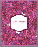 menchia tekst i kwiaty Fotografia Royalty Free