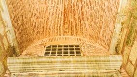 Menchia wyginający się kamienny dach Istanbuł, Turcja Zdjęcia Stock
