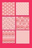Menchia wzory z kwiatów liści serc ramboids ilustracji
