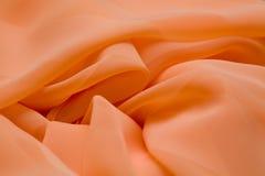 Menchie, łososiowa jedwab oferta barwili tkaninę, elegancja pluskoczący materiał Obraz Stock