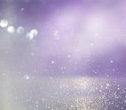 menchie, światło i srebra bokeh abstrakcjonistyczni światła, - purpury obraz royalty free