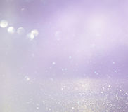 menchie, światło i srebra bokeh abstrakcjonistyczni światła, - purpury zdjęcie stock