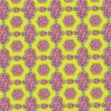 Menchie i żółty glittery stippled etniczny wzór royalty ilustracja