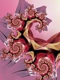 Menchie i złoto spirali wzór Zdjęcie Stock