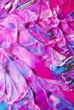 Menchie, purpury i Błękitne Gęste farb żyły Abstrakcjonistyczni, Fotografia Royalty Free