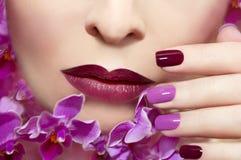 Menchie wałkonią się manicure Zdjęcie Royalty Free