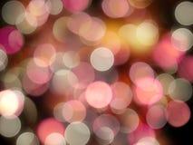Menchii i żółtego jaskrawego rozjarzonego round świateł plamy świętowania przyjęcia tła colourful abstrakt obraz royalty free