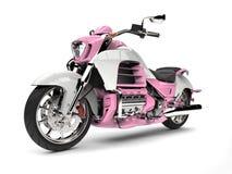 Menchii i białego nowożytny potężny motocykl Zdjęcie Royalty Free