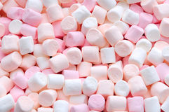 Menchii i białych mini marshmallows Obraz Royalty Free