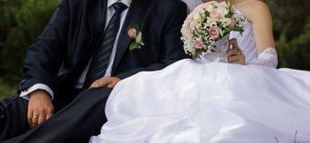 Menchii i bielu róży bridal bukiet Obraz Stock
