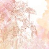 Menchii i brzoskwini kwiecisty tło ilustracji