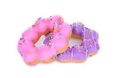 Menchii i purpur galanteryjny pączek na bielu Fotografia Royalty Free