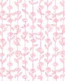 Menchii róży kwiatów wzoru tła wektor Zdjęcia Stock