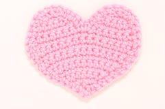 Menchii trykotowy serce. Zdjęcia Stock