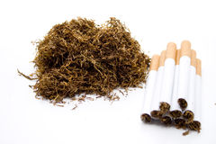 Mend tobacco and cigarets Royalty Free Stock Photo