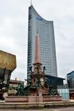 Mende Fountain at Augustusplatz in Leipzig Royalty Free Stock Image