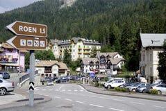 Mendel Pass nel Tirolo del sud Fotografie Stock Libere da Diritti