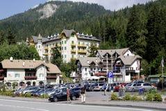 Mendel Pass nel Tirolo del sud Immagini Stock