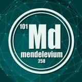 Mendelevium chemisch element royalty-vrije illustratie