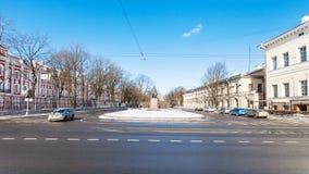 Mendeleyev-Linie Straße in St Petersburg Lizenzfreie Stockfotos