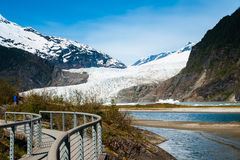 Menden Hall Alaska Glacier. This is the beautiful Menden Hall Glacier in Alaska Royalty Free Stock Images