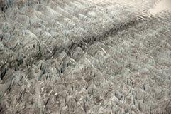 Mendenhall冰川的裂隙模式 免版税图库摄影