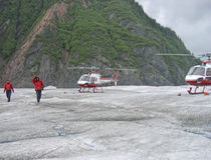 Mendenhall冰川,朱诺,阿拉斯加 免版税库存图片