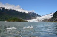 Mendenhall冰川,朱诺,阿拉斯加 免版税库存照片