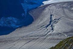 Mendenhall x замерли ледником, который Стоковая Фотография RF