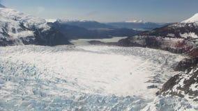 Mendenhall för sikt uppifrån glaciär Juneau Alaska fotografering för bildbyråer