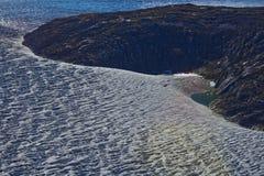 Mendenhall glaciär fryst landskap 3 Arkivbilder