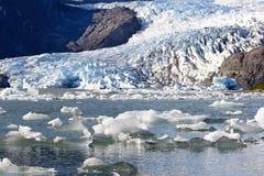 Mendenhall glaciär i Alaska, USA Arkivfoton