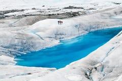 Mendenhall glaciär i Juneau, Alaska Arkivbilder