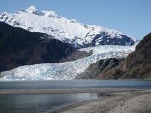 Mendenhall glaciär på Juneau Alaska Arkivbild