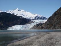 Mendenhall glaciär på Juneau Alaska Arkivfoton