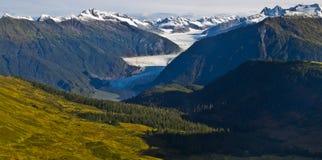 Mendenhall glaciärdal Arkivbild