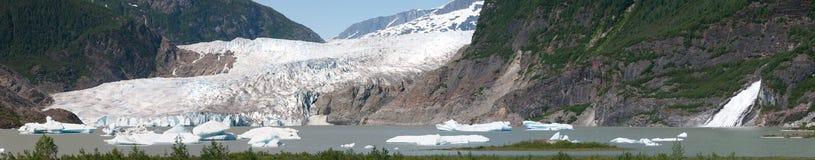 Mendenhall Glacier, Alaska Panorama Royalty Free Stock Image