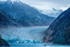 Mendenhall Glacier. As viewed across the bay near Juneau, Alaska Stock Photo