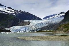 Mendenhall Glacier at Juneau Alaska Royalty Free Stock Image
