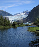 Mendenhall Glacier & Lake Royalty Free Stock Photo