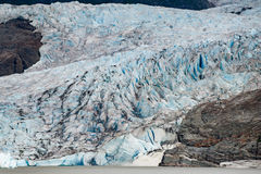 Mendenhall Glacier landscape panorama view royalty free stock images