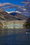 Mendenhall glacier. Is a glacier about 13.6 miles long located in Mendenhall Valley, about 12 miles from downtown Juneau in the southeast area of the U.S. state Royalty Free Stock Photography
