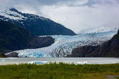 Mendenhall Glacier Near Juneau in Alaska Stock Photography